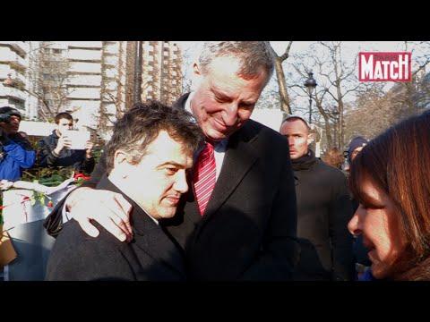 Le maire de New-York, Bill de Blasio, au chevet de Charlie Hebdo