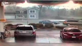 Security Cam of House Swept away by Tornado.mp4
