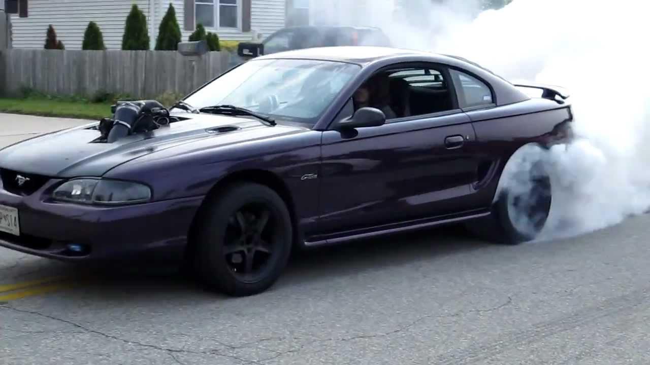 97 Mustang Gt 5 4 Lightning Swap Burnout Youtube