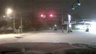 Snow Storm Caught On Dash Cam In Indiana January 13, 2012