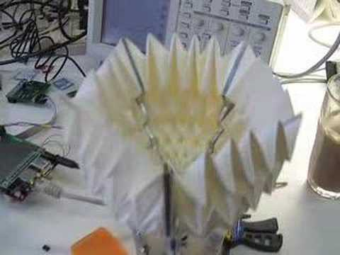 Oribotic Waterbomb flower prototype