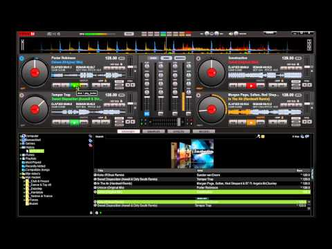 Virtual DJ 7 Pro House/Electro/Electro-House Mixing with 4 Decks [HD]