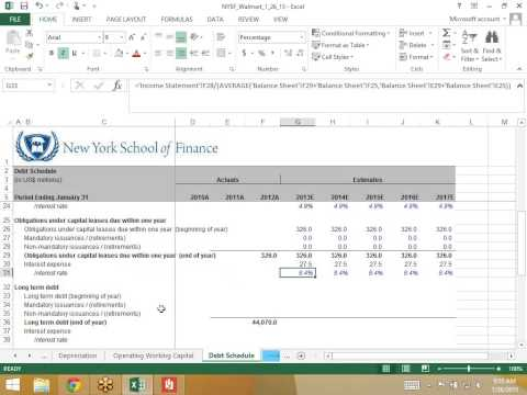 Modeling a Debt Schedule