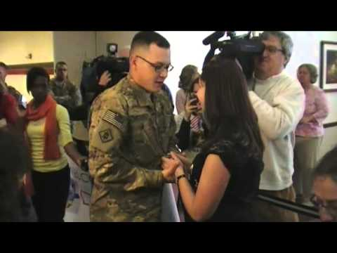 Derek Bessey Afghanistan Homecoming and Surprise Proposal