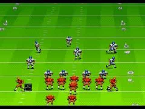 Sega Megadrive Genesis John Madden Football 91 Youtube