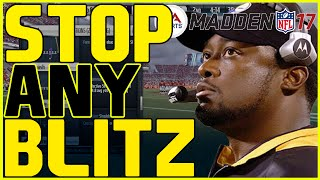 Madden 17: Beginner Tips - How To Stop Any Blitz From Coming In! | Offensive Tip Videos!