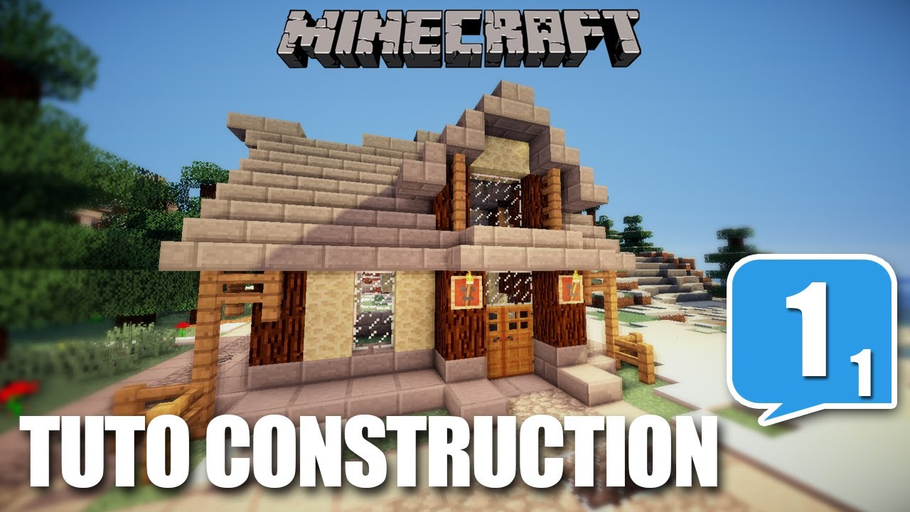 Tuto construction ep01 part 01 comment bien for Minecraft plan de construction maison