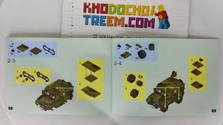 Hướng dẫn lắp ráp XingBao XB-06012 Lego Military Army MOC The Ryan Car Set giá sốc rẻ nhất