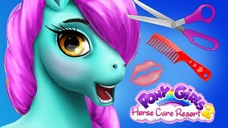 Fun Horse Animal Care Games - Pony Girls Makeover Resort, Hair Salon Dress Up Unicorn Kids Games 1