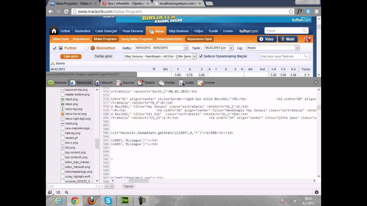 PHP İddaa Bot'u Yapımı - Maçkolik (Bülten) - YouTube