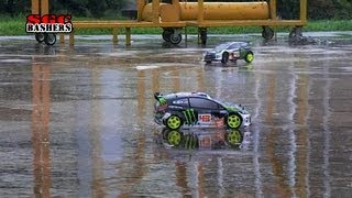 Ken Block Gymkhana Five - HPI WR8 RC Rally Short course trucks bashing at Woodlands Hardcourt