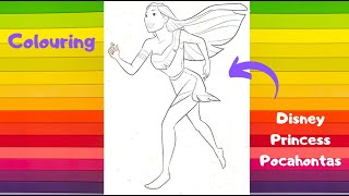 Colouring Disney Princess Pocahontas - Colouring for Kids and Toddlers