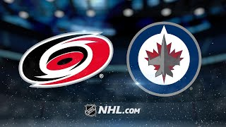 Ehlers, Hellebuyck push Jets past Hurricanes, 2-1