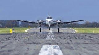 SKYDIVE Pilot perspective - KingAir C90