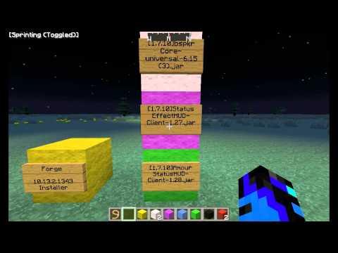 Minecraft Optifine. Armour and Potion Status