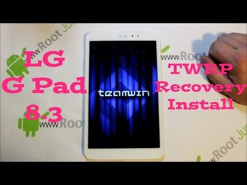 LG G Pad 8.3 TWRP Recovery Install & nandroid