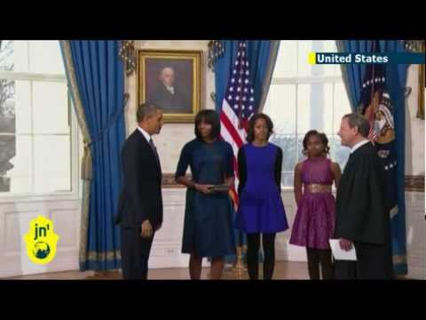 Obama sworn in: US President Barack Obama takes oath at White House ceremony