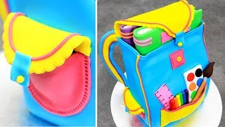 How To Make a BACKPACK Cake  by Cakes StepbyStep