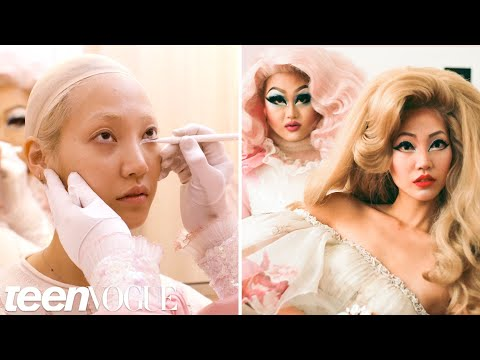 Drag Queen Kim Chi Gives a Supermodel a Makeup Transformation | Teen Vogue
