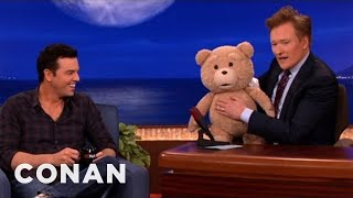 Seth MacFarlane's Ted R-Rated Teddy Bear Malfunctions - CONAN on TBS