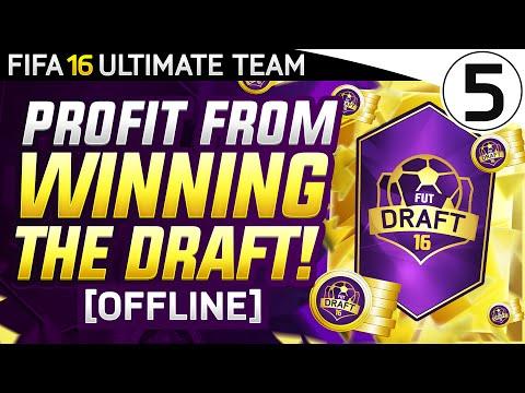 DRAFT PACK GLITCH!? PROFIT FROM WINNING THE FUT DRAFT! [OFFLINE] 5/5 - FIFA 16 Ultimate Team