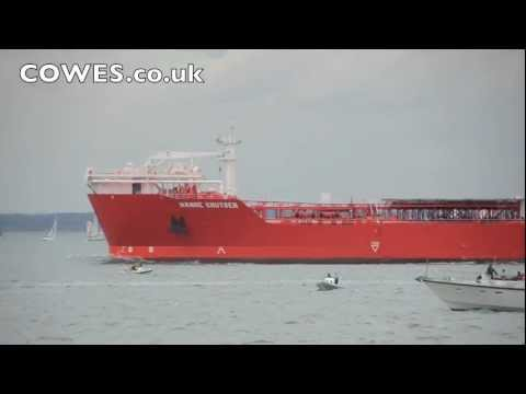 Yacht hit by tanker off Cowes, Isle of Wight