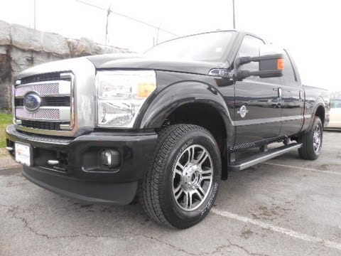SOLD.2013 FORD F-250 PLATINUM CREWCAB 4X4 TUXEDO BLACK 6.7  LARIAT REVIEW CALL 888-439-1265