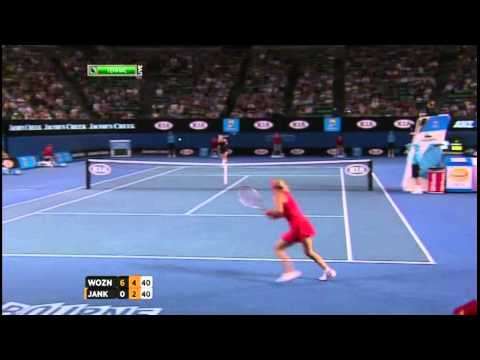 2012 Australian Open  Wozniacki vs Jelena Jankovic Highlights