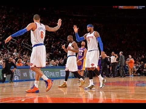 Carmelo Anthony's BIG Night Leads the Knicks over the Lakers