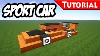 Minecraft: Easy Sport - Race Car Tutorial [ Ferrari Style ] How to make a car 1.8