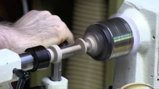 turning a maple spool (woodturning) - Ahorn Garnrolle drechseln