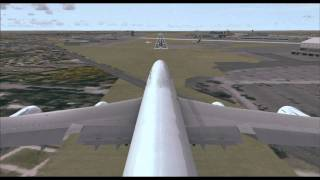 Landing Egypt Air 737-8 /747-8/E170 In Ivao FSX  By Captain Amr Moawad (SU-AAM)