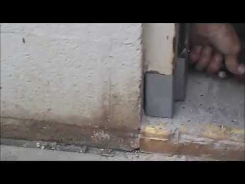 Steel Door Frame Repair Youtube