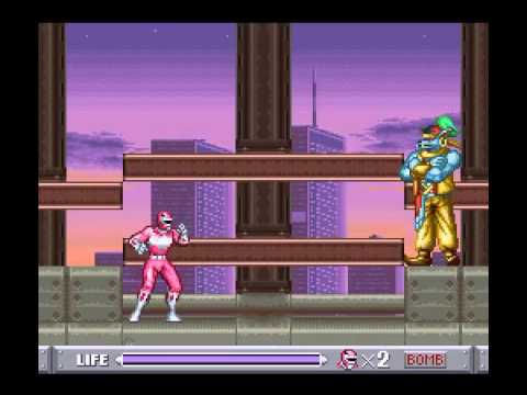 SNES Longplay [274] Mighty Morphin Power Rangers