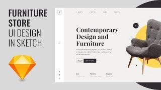 Furniture Store Website UI using Sketch & Photoshop - Speed Art Tutorial