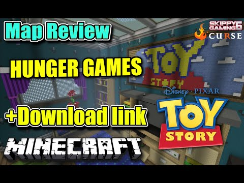 MINECRAFT - PS3 - TOY STORY HUNGER GAMES MAP REVIEW + DOWNLOAD LINK ( PS4 ) TU19 SERVER UPDATE
