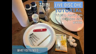 Live Disc Dyeing Tutorial - 3 shaving cream techniques
