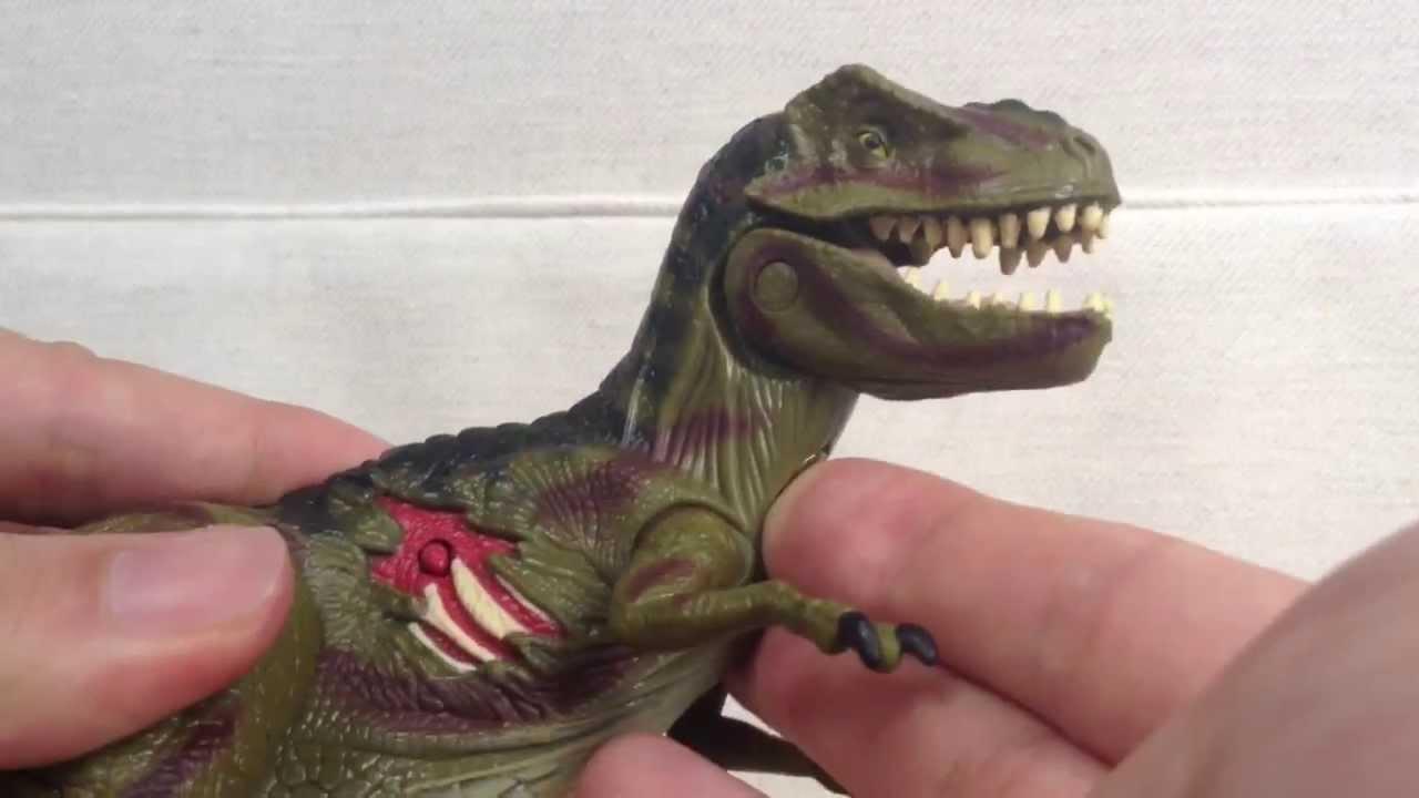 Jurassic Park Toys T Rex : Jurassic park toy t rex youtube