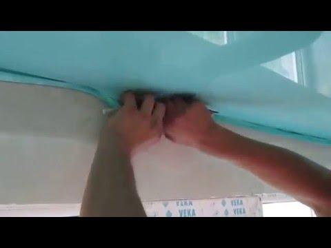 Ремонт натяжных потолков своими руками порез в середине 69