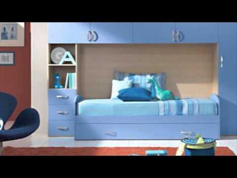 Giwa cameretta a ponte con letto e rete a doghe in legno for Camerette per bambini prezzi