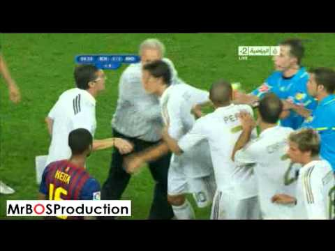Big Fight Between ( Barcelona vs Real Madrid ) Players (HQ)