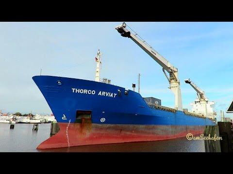 cargo crane seaship THORCO ARVIAT ex BELUGA NEGOTIATION V2DX5 IMO 9484194 lockbound Emden