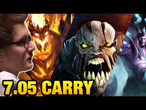Miracle Dota 2 7.05 - Carry Hero for 7.05 META [3 Games]
