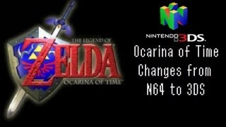 Ocarina of Time: Changes from N64 to 3DS (or the low budget 2DS)