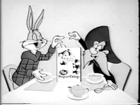 VINTAGE EARLY 1960's Sugar Crisp TV commercial with BUGS BUNNY & YOSEMITE SAM