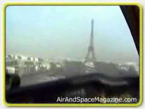 Bonanza Plane goes under Eiffel Tower Video