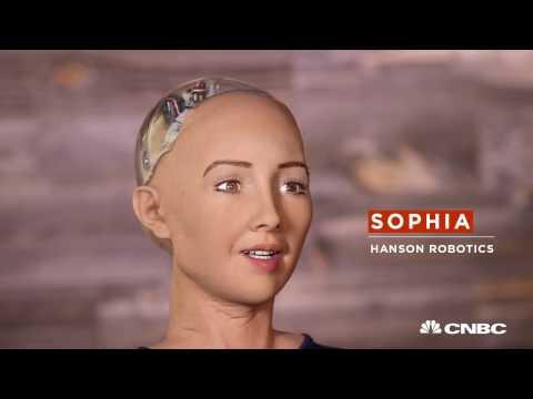 Робот по имени София.  Гуманоид