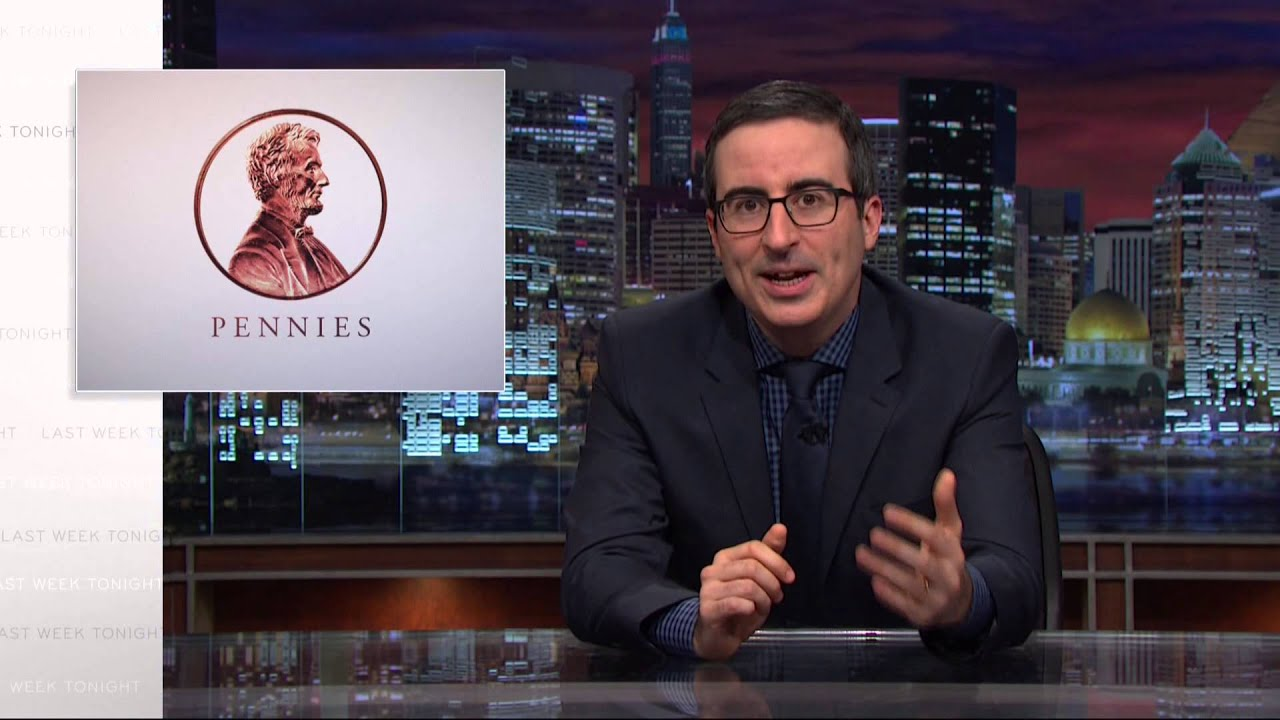 [John Oliver Explains Why America Needs To Get Rid Of Pennies] Video
