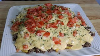 Amazing Loaded Cheeseburger French Fries