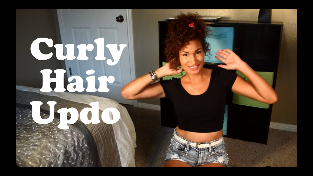 How To Curly Hair Updo Rihanna Inspired Jonie Raquel